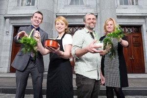 Launching the food forum.
