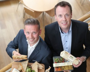 Mark Lee, commercial director, Compass Group Ireland; Gareth Chambers, CEO, Around Noon.
