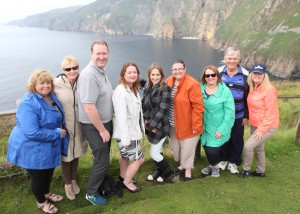 Australian travel agents on the viewing point on Slieve League, Co. Donegal.