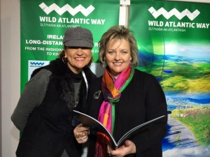 Diane Butler, Tourism Ireland (right), with an Australian travel agent.