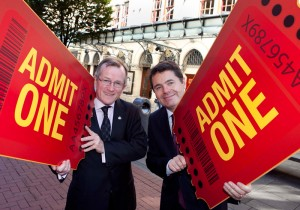 Niall Gibbons, Tourism Ireland CEO, with Minister Donohoe, at the autumn campaign launch.