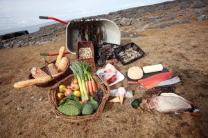 A selection of food sourced from the Burren.