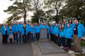 Christian Ruebel, Tourism Ireland (right) with German coach and group tour operators at Yeats' Grave in Drumcliffe, Sligo.