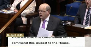 Minister Noonan, announcing Budget 2015.