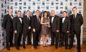 Aine Mangan (fourth right), Director of Dublin East Coast Golf Alliance along with members of DECGA.
