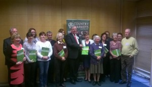 Minister Hayes launching the Country Markets Guide to Good Hygiene Practice.