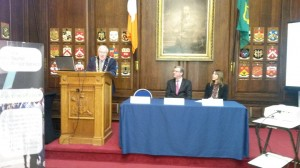 Lord Mayor of Dublin, Christy Burke, speaking at the annual ITAS meeting.